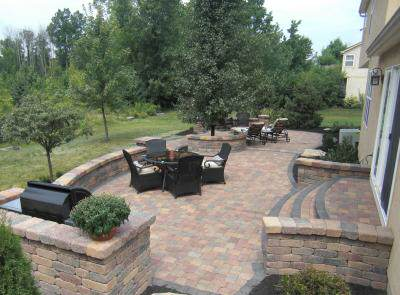 Retaining Walls Fireplaces Outdoor Kitchens And More - Backyard hardscape ideas