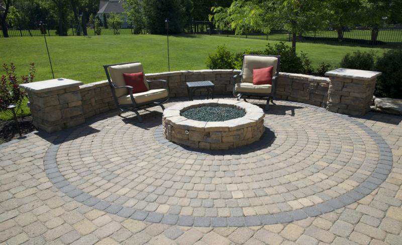 Image Result For Patio Block Fire Pit