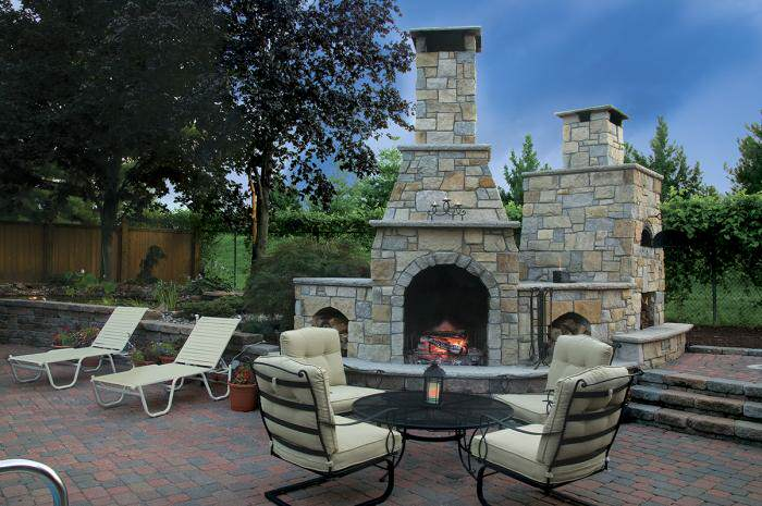 Outdoor Fireplaces And Pits Hardscape Landscaping Trees Plants Garden Center Mckenziescapes